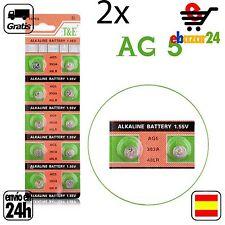 2x AG5 PILAS pila de botón baterías 393A boton bateria AG 5 LR48 LR754 LR48 GA5