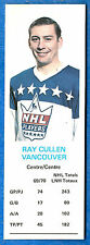 1970-71 Dad's Cookies RAY CULLEN - Vancouver Cannucks