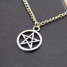Pentagramm Halskette Anhänger Gothic Kette Teufel Stern Pentagram Halsschmuck