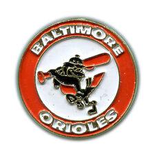 VINTAGE 1989-91 BALTIMORE ORIOLES TEAM LOGO MLB BASEBALL PIN BUTTON LICENSED