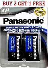 2 Wholesale 9V Panasonic 9 Volts Batteries Battery Super Heavy Duty Lot