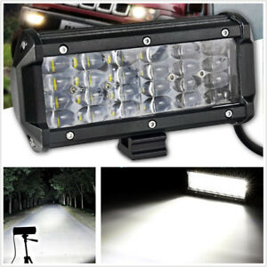"6.5"" 72W Quad Row LED Flood Work Light Off-road Driving Fog Light Car Truck"
