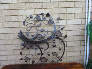 VERY OLD/VINTAGE OUTDOOR WALL HGANGING FEATURE.  ALL METAL