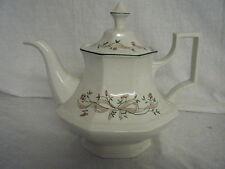 C4 poterie johnson bros eternal beau tea pot & couvercle 20cm h 1D4A