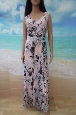 Together pink floral print pleated long maxi dress size UK 14 RRP £115 BNWT