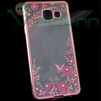 Pellicola+Custodia LUXURY DIAMOND p Samsung Galaxy A3 2016 A310F cover TPU fiori