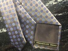 ERMENEGILDO ZEGNA POLKA DOT 100% SILK MEN'S NECK TIE MADE IN ITALY