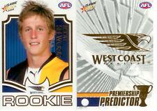 2008 Select AFL Classic Predictor+Draft Rookie Card PDR15 Scott Selwood(W. Coast
