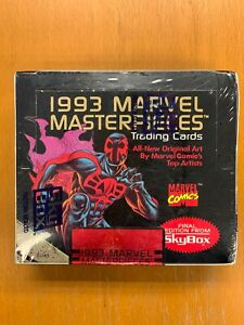 1993 MARVEL MASTERPIECES Trading Cards Marvel Comics 36 packs Factory Sealed Box