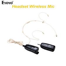 Eyoyo 2.4G Wireless Headset Head Worn Microphone Receiver+Transmitter Hand Free