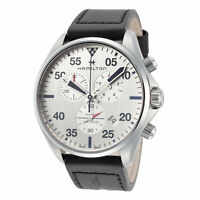 Hamilton Men's Khaki Aviation H76712751 44mm Silver Dial Chronograph Watch