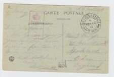 WW1 RAF In France Postcard Lyon Sparkbrook 1918 APO S.85 & Censored