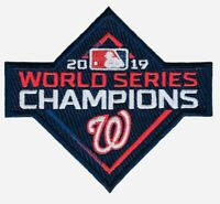 2019 WASHINGTON NATIONALS WORLD SERIES CHAMPIONS PATCH MLB EMBROIDERED IRON SEW