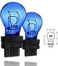 3157 P27/7W 180 Super White Xenon Look DRL Blue Glass Wedge Bulbs 5000K