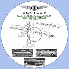 Bentley S1,S2,S3 / Continental S,S2,S3 Factory Work Shop Manual  1955-1965