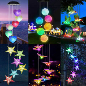 Solar Powered Wind Chime LED Light Garden Hanging Decoration Lamp Outdoor NEW