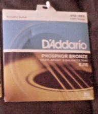 D'addario Acoustic Guitar Strings EJ16 Light Gauge 012-.053 Phos/ Bronze 1pk