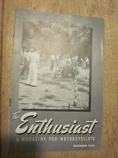 1950 Harley Davidson The Enthusiast Magazine December Motorcycle Cincinnati Tour