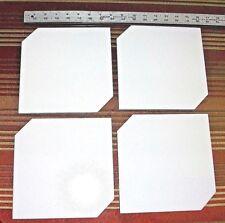 "Lot 0f 4 Solid Matte White 7 3/4"" Square  Ceramic Floor Tiles New Free Ship"