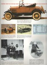 1926 Ford Model T Article - Must See !! - Runabout + Touring Car + Fordor