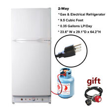 smeta propane gas / ac 10 cu ft refrigerator freezer rv off-grid cabin  trailer