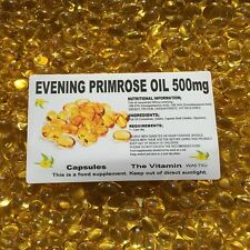 EVENING PRIMROSE OIL 500mg  180 Capsules One per day Free Postage   (L)