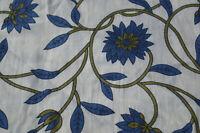 100 Yard Indian Fabric Cotton Dress Floral Sanganeri Hand Block Printed