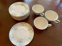 VTG 16 Pc Imperial China Seville Porcelain Dessert Plates Coffee Cups & Saucers