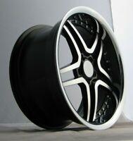 "Mercedes C Class E Class S Class x4 19"" Deep Dish 647 Alloy Wheels Black Polish"