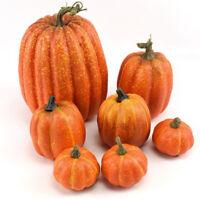 Halloween Harvest Fake Artificial Pumpkins Fall Thanksgiving Craft Home Decor