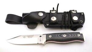 Cudeman MT-1 295-M Böhler N695 Micarta grauschwarz Spezial-Gürtelscheide Messer