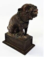 J&E STEVENS CAST IRON MECHANICAL BULL DOG BANK Lot 14