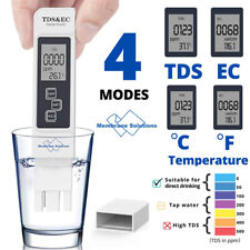 3 in 1 Digital TDS EC LCD Meter Water Quality Tester 0-9990 ppm Purity Filter US