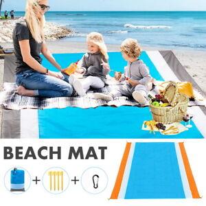 NEW Sand Proof Beach Mat Sand Free Picnic Blanket Outdoor 200*210 cm Waterproof