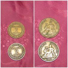 Lot de 2 pièces de bon pour 2 francs de 1921 et 1923