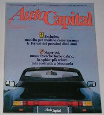 AUTOCAPITAL 6/1987 LANCIA THEMA 6V – PEUGEOT 505 V6 – ALFA ROMEO 90 2.5 SUPER
