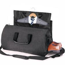 Grey Business Travel Bag Mens Overnight Bag Oxford Organiser Holdall Weekend Bag