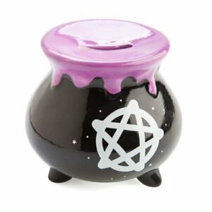 Money Bank Shaped Like A Cauldron Features Starry Pentacle Design On Both Sides