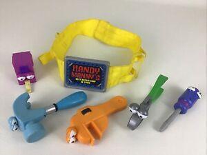 Handy Manny Tool Belt Stretch Measuring Tape Pat Rusty Wrench 6pc Lot Mattel