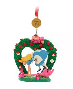 Y1 BNWT Disney Store 21 ALICE IN WONDERLAND Legacy Christmas Decoration Ornament