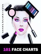 101 Face Charts: Female Face Charts for Makeup Artists Large Book, Like New U...