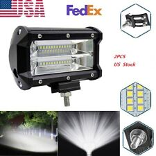 US 2pc 72W LED Work Light Flood Driving Lamp For Jeep SUV Truck Boat Offroad New