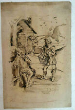 Unknown Artist Ink on Paper, Drawing Country SIGNED, 29 x 19 cm, 18-19th Century