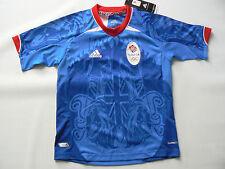 Ufficiale Adidas Olimpiadi Londra 2012 Team GB Maglietta da calcio ragazzo taglia 7 8 anni