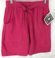 Hang Ten Pink Elastic Waist 100% Cotton Shorts Vintage L NOS 190109MFC/BSS