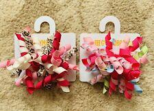 Gymboree Girls Hair Clips x 4 - Pink - Brand New