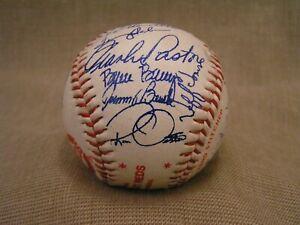 1983 Cincinnati Reds Team Autographed Baseball w/30+ Signatures -Pastore, Bench+