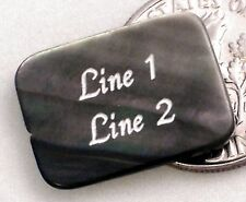 1 CUSTOM ENGRAVED 18x13mm Black Lip Shell Bead - Rectangle