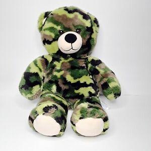 Build A Bear Teddy Bear Camouflage Bear Army Military Camo Plush Stuffed Animal
