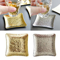 Metal Square Cup Place Mat Mug Coasters,Heat-Resistant And Keep The Cup Hold